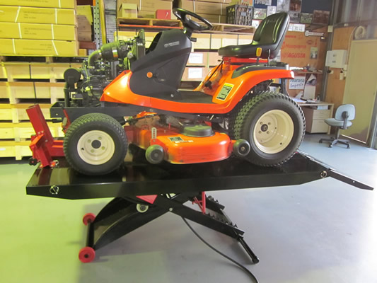mower on lifter